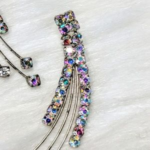 Vintage Jewelry - Iridescent Shooting Star Earrings